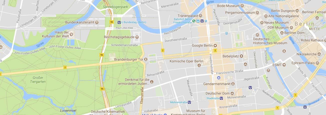 map of Berlin, Germany