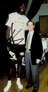 Dr. Marmer with Dikembe Mutombo, who played for the Atlanta Hawks from 1996 to 2001 and recently entered the Basketball Hall of Fame.