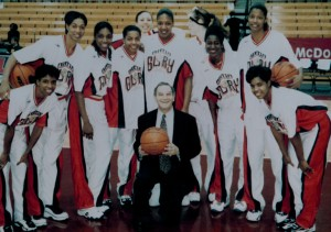 Dr. Marmer with the Atlanta Glory, American Basketball League, in 2002.