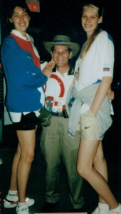 Dr. Marmer with members of the Russian Olympic women's volleyball team at the 1996 Summer Olympic Games in Atlanta.